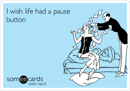 I wish life had a pause button