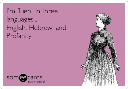 I'm fluent in three languages...  English, Hebrew, and Profanity.