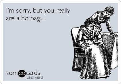 I M Sorry But You Really Are A Ho Bag
