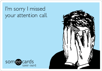 I'm sorry I missed your attention call.