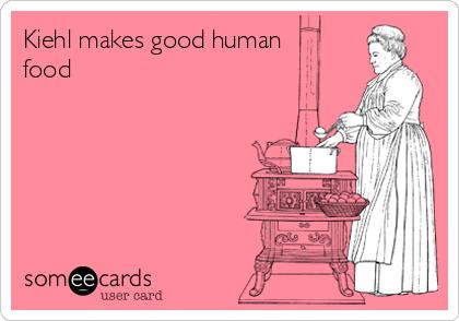 Kiehl makes good human food
