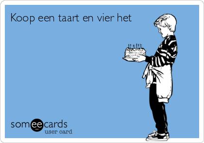 Koop een taart en vier het