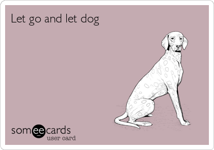 Let go and let dog
