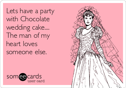 Lets have a party with Chocolate wedding cake.... The man of my heart loves someone else.