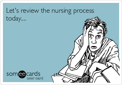 Let's review the nursing process today....