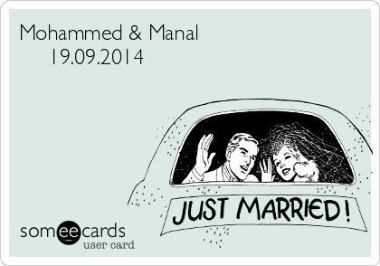 Mohammed & Manal      19.09.2014