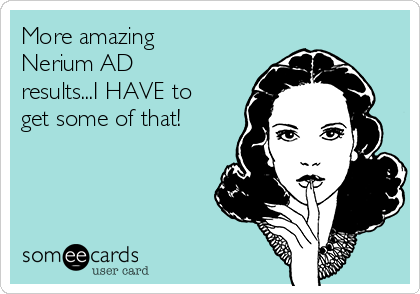 More amazing Nerium AD results...I HAVE to get some of that!
