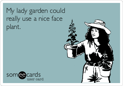 My lady garden could really use a nice face plant.