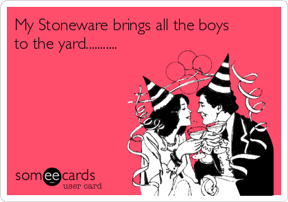My Stoneware brings all the boys to the yard...........