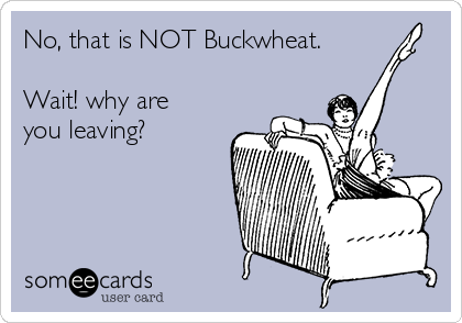 No, that is NOT Buckwheat.   Wait! why are you leaving?