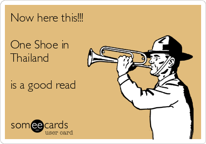 Now here this!!!  One Shoe in Thailand      is a good read