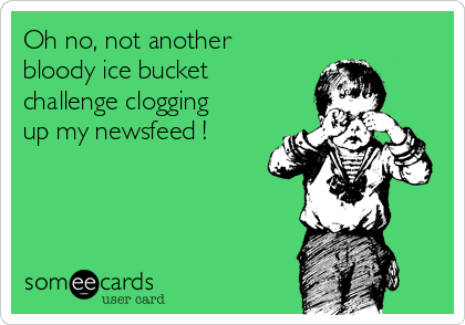 Oh no, not another bloody ice bucket challenge clogging up my newsfeed !