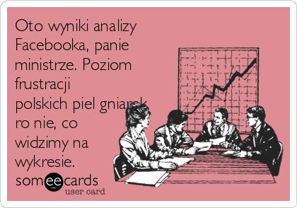 Oto wyniki analizy Facebooka, panie ministrze. Poziom frustracji polskich pielęgniarek rośnie, co widzimy na wykresie.