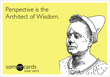 Perspective is the Architect of Wisdom.