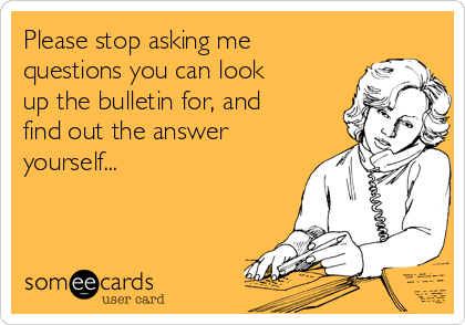 Please stop asking me questions you can look up the bulletin for, and find out the answer yourself...