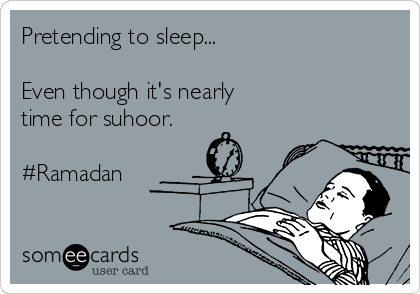 Pretending to sleep...  Even though it's nearly  time for suhoor.  #Ramadan