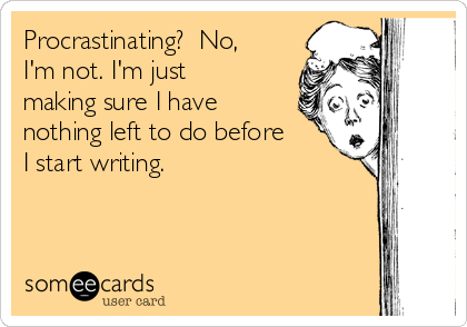 Procrastinating writing a book