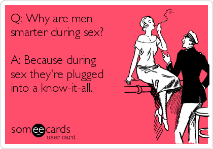 Smarter sex