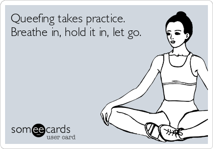 Queefing takes practice. Breathe in, hold it in, let go.