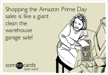 Shopping the Amazon Prime Day sales is like a giant clean the warehouse garage sale!
