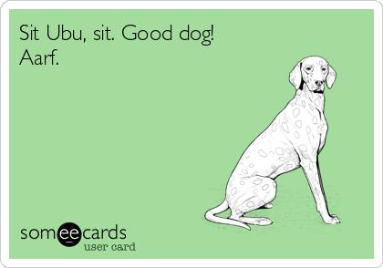 sit ubu sit good dog
