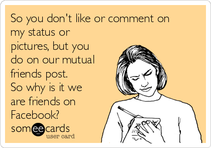 what happens if you dont like a photo on facebook