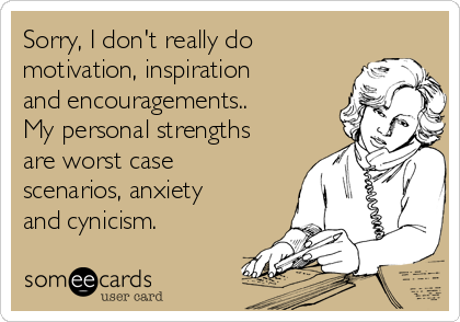 Anxiety Is A Dish Best Served Never. | Cry For Help Ecard