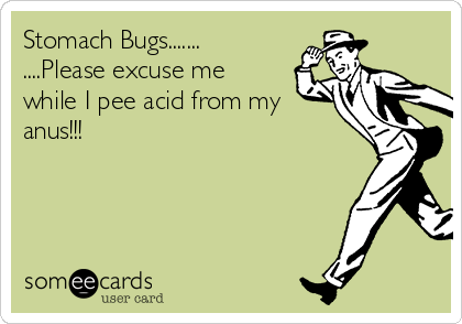 Stomach Bugs....... ....Please excuse me while I pee acid from my anus!!!