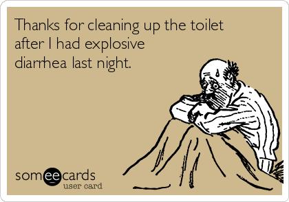 explosive diarrhea toilet | just b.CAUSE