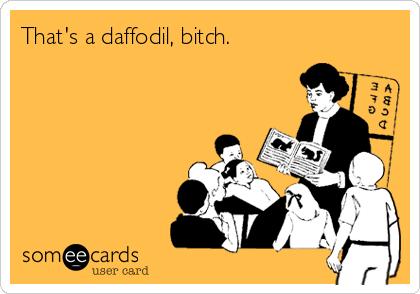 That's a daffodil, bitch.