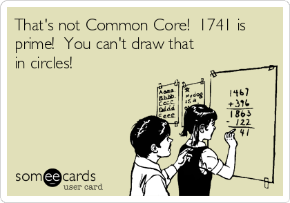 That's not Common Core!  1741 is prime!  You can't draw that in circles!