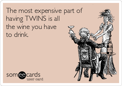 The most expensive part of having TWINS is all the wine you have to drink.