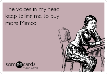 The voices in my head keep telling me to buy more Mimco.