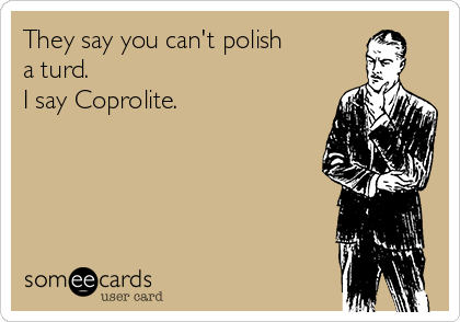They say you can't polish a turd. I say Coprolite.