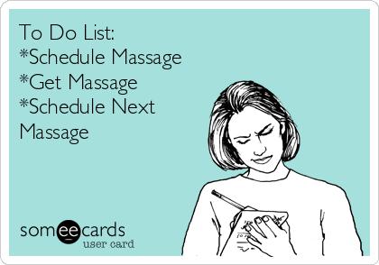 to do list schedule massage get massage schedule next massage