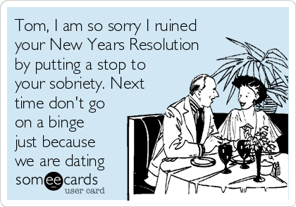 New years resolution dating