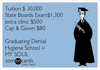 Tuition 30000 State Boards Exam1300 Extra Clinic 500 Cap Gown 80 Graduating Dental