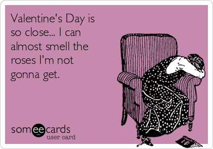 Valentine's Day is so close... I can almost smell the roses I'm not gonna get.