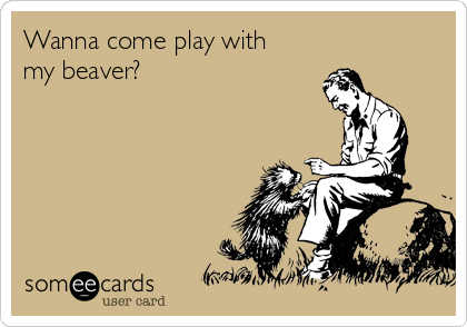 Wanna come play with my beaver?