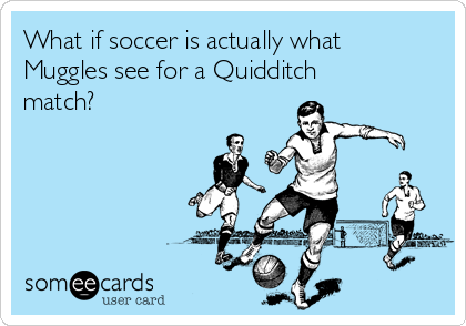 What if soccer is actually what Muggles see for a Quidditch match?