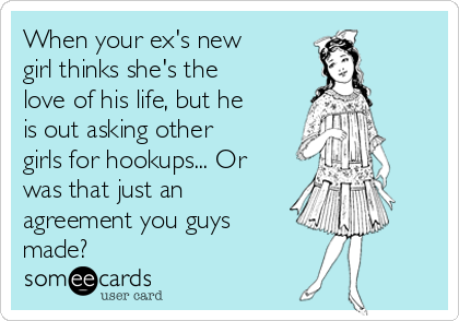 Hookup someone who lives with ex