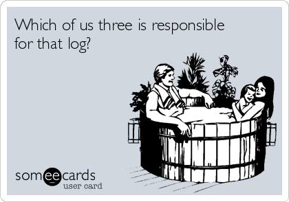 Which of us three is responsible for that log?