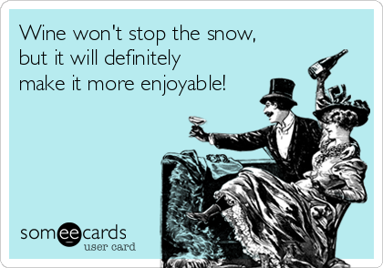 Wine won't stop the snow, but it will definitely make it more enjoyable!