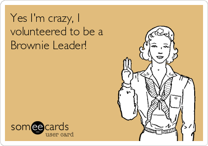 Yes I'm crazy, I volunteered to be a Brownie Leader!