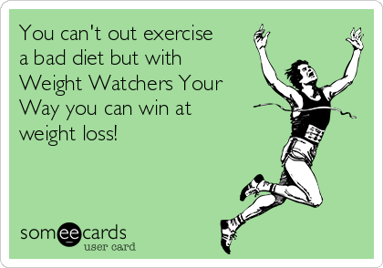 You can't out exercise a bad diet but with Weight Watchers Your Way you can win at weight loss!